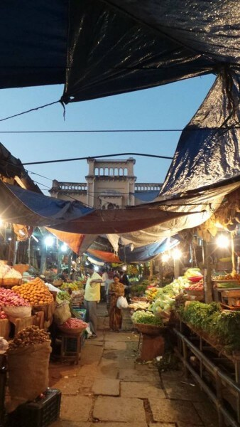 Devaraja Market at dusk. This market captures the colourful soul of the city, dating back to more than 100 years in history.