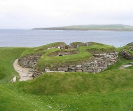 Skara Brae Scotland by MJ Richardson