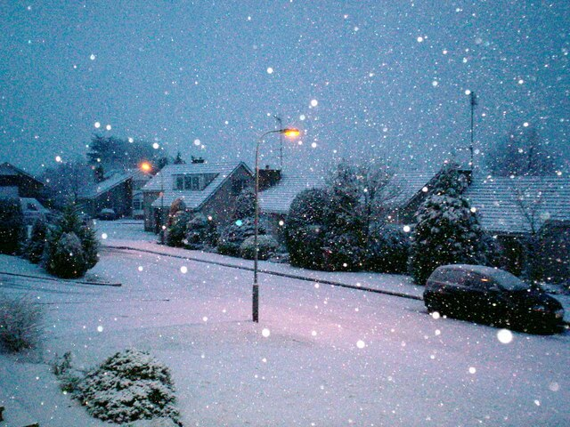 snow near portadown NI Christmas eve by P Flannagan