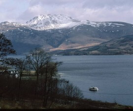 loch lomond with ben lomond by russel wills
