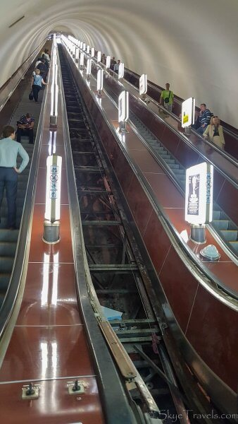 Kiev Metro Escalator