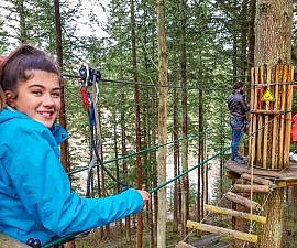 Preparing at Go Ape