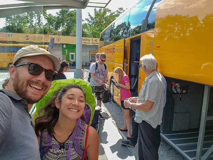Selfie with Tuliyani Getting on RegioJet