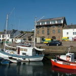 scotland harbour fishing boats