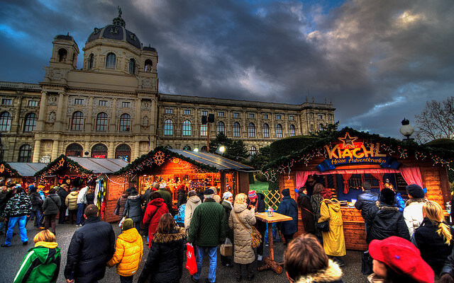 Christmas Market in Maria-Theresien Platz by Brian Colson