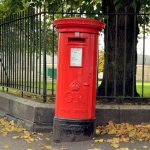 Northern Ireland pillar box Albert Bridge