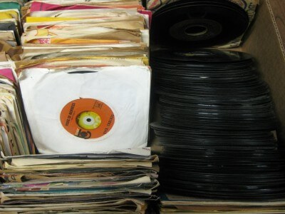 45 RPM records in Hutchinson Kansas (photo by Sheila Scarborough)