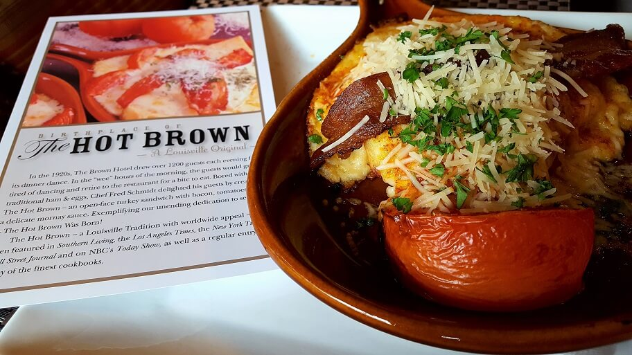 A Hot Brown at the Brown Hotel in Louisville KY (photo by Sheila Scarborough)