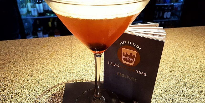 A Manhattan at Sway on the Urban Bourbon Trail Louisville KY (photo by Sheila Scarborough)