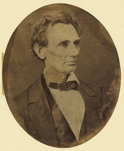 Abraham Lincoln around 1860 (courtesy Library of Congress at Flickr Commons)