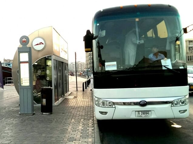 Dubai on a budget - take the bus! A lot of bus stops are air-conditioned like this one.
