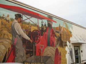 Alva, Oklahoma threshing mural, center portion (photo by Sheila Scarborough)
