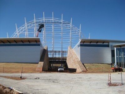 American Indian Cultural Center and Museum construction Nov 2010; Great Hall of the People entrance