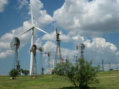 American Wind Power Center, Lubbock TX,  part of the Linebery Windmill Park (photo by Sheila Scarborough)