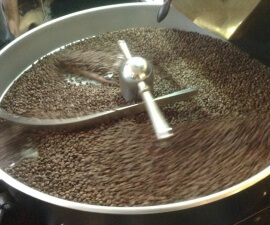 Roasting coffee at the Lot Sixty One coffee company in Amsterdam