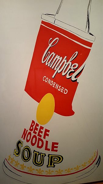 Andy Warhol's Crushed Campbell's Soup Can painting 1962 (photo taken by Sheila Scarborough at Warhol Museum)
