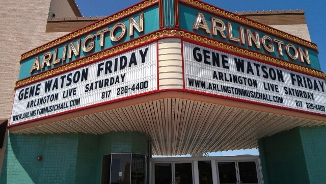 Arlington TX Music Hall marquee (photo by Sheila Scarborough)
