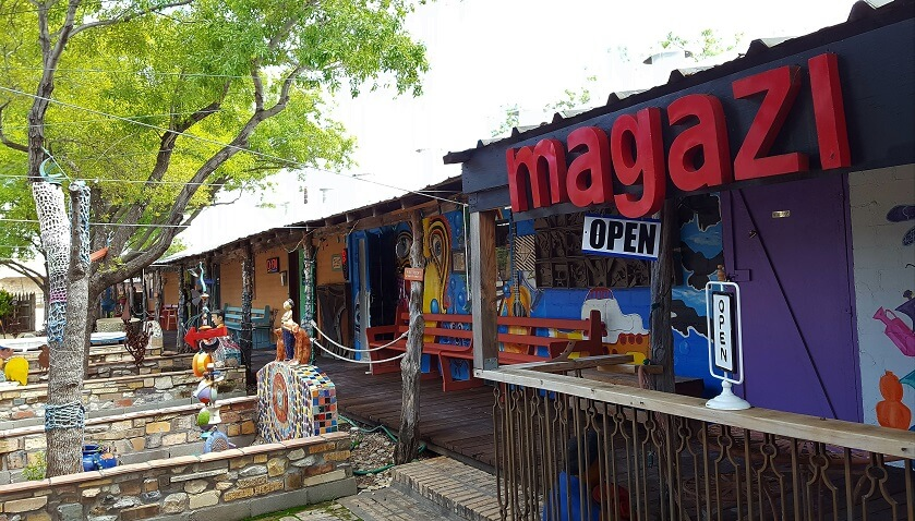 Artist studios at the Chicken Farm Art Center in San Angelo Texas (photo by Sheila Scarborough)