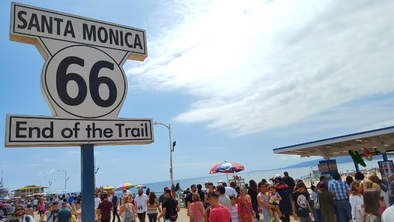 If you have 3 days in Los Angeles, see the end of Route 66 on the Santa Monica Pier California (photo by Sheila Scarborough)
