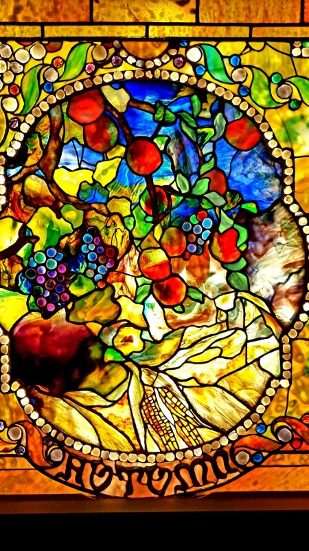 Autumn panel from the Four Seasons series by Tiffany at the Morse Museum Winter Park FL near Orlando (photo by Sheila Scarborough)