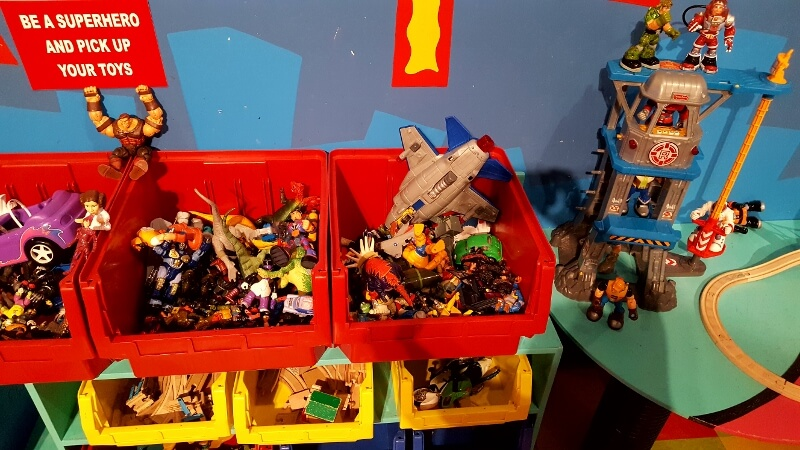 Be a superhero play area at Toy & Action Figure Museum Pauls Valley OK (photo by Sheila Scarborough)