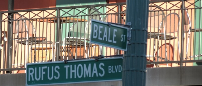 Beale Street street sign in Memphis