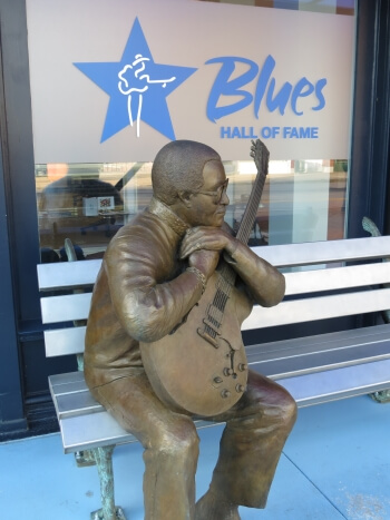 Statue of Little Milton outside the Blues Hall of Fame in Memphis, Tennessee