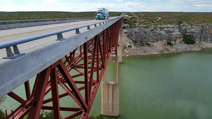 Bridge over the Pecos River Highway 90 west Texas road trip (photo by Sheila Scarborough)