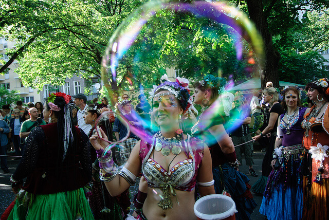 Bubble at a street carnival (courtesy abbilder at Flickr CC)
