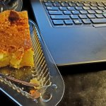 Burning the midnight oil with a slice of Bird Dog Buttermilk Pie from Pie Junkie OKC (photo by Sheila Scarborough)
