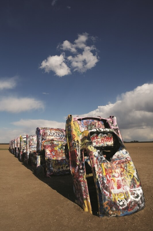 Cadillac Ranch in Amarillo TX (courtesy Texas Tourism)