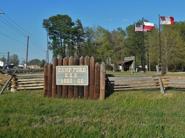 Camp Ford Union POW historic site in Tyler Texas (photo by Sheila Scarborough)