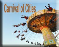 Carnival of Cities blog carnival logo
