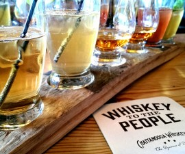 Chattanooga Whiskey flight (photo by Sheila Scarborough)