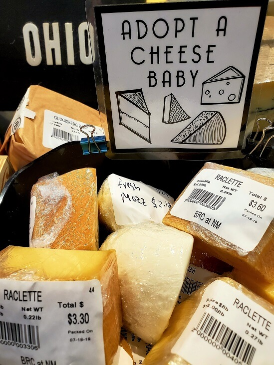 Cheese at Black Radish Creamery North Market Columbus OH (photo by Sheila Scarborough)