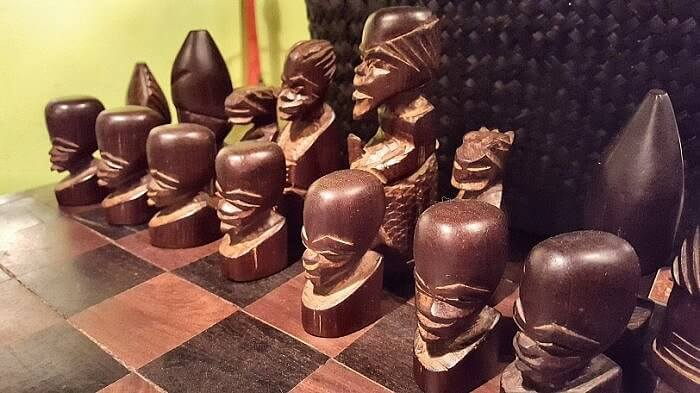 Chess board at Liefie Li Vine Winnsboro TX (photo by Sheila Scarborough)