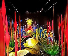 Chihuly Garden and Glass Mille Fiori room in Seattle (photo by Sheila Scarborough)