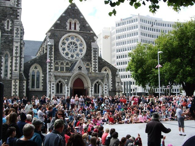 Christchurch Buskers Festival Cathedral