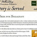 Local history through food Colonial Williamsburg History is Served blog post screenshot