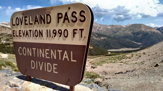 Continental Divide at Loveland Pass Colorado (photo by Sheila Scarborough)