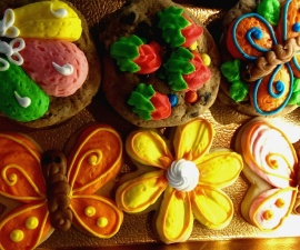 Cookie selection at Rao's Bakery on Calder in Beaumont TX (photo by Sheila Scarborough)