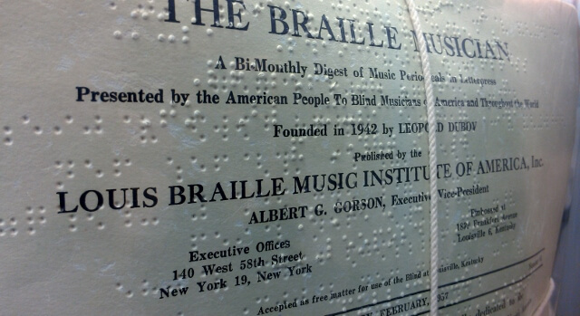 Copies of the Braille Musician at WC Handy Museum Florence AL (photo by Sheila Scarborough)