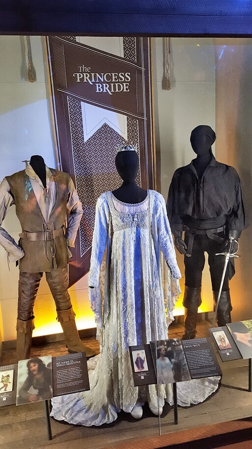 Costumes from the Princess Bride movie at MoPOP in Seattle (photo by Sheila Scarborough)