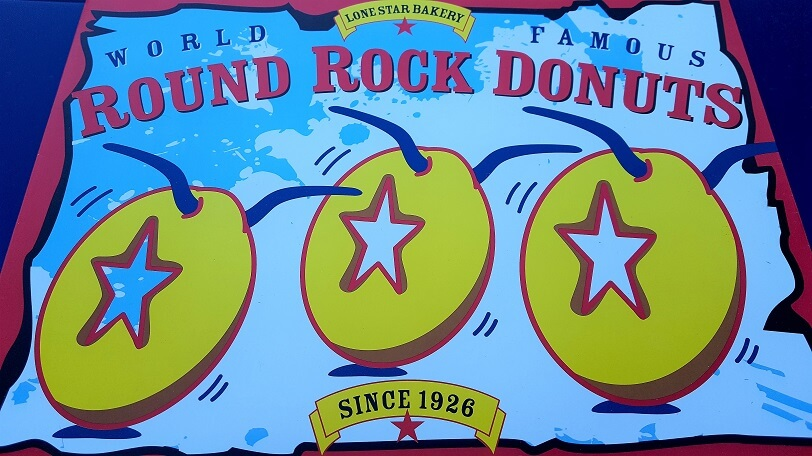 Cover of the To Go box for Round Rock Donuts (photo by Sheila Scarborough)