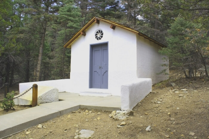 The Lawrence Memorial Chapel at the DH Lawrence Ranch near San Cristobal and Taos, New Mexico