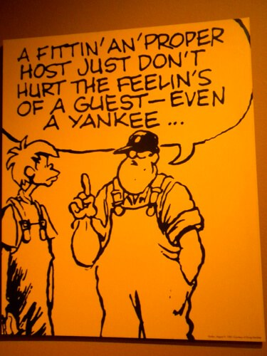 Cartoon at Levine Museum