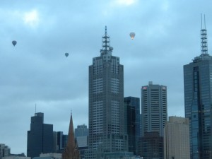 Hot Air Balloons from the Langham Melbourne