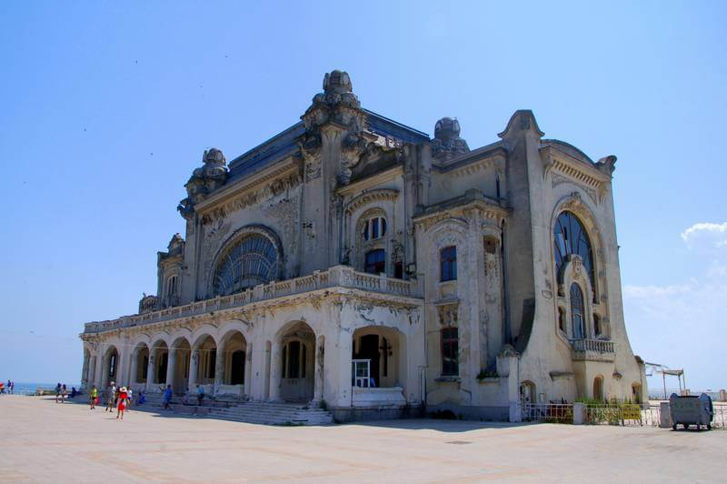 An old school casino, now abandoned, in Constanta, Romania.