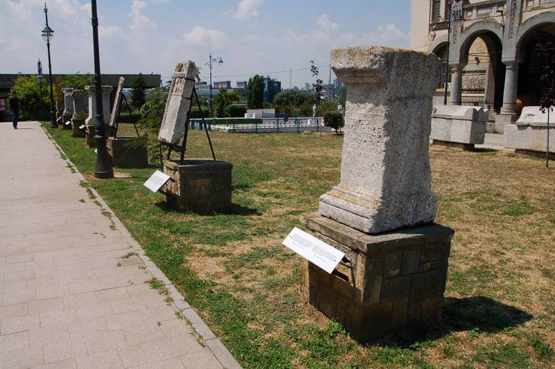 Some ancient Roman graves in Constanta, Romania.