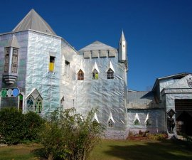 A look at the outside of Solomon Castle, Ona, Florida